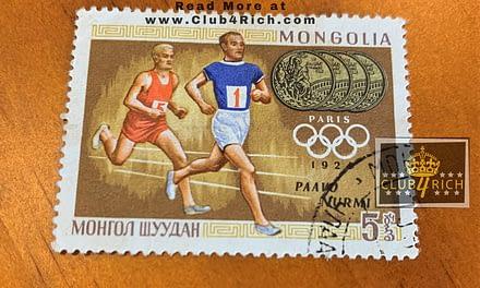 1924 Mongolia Paavo Nurmi Stamp